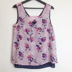 GNW Floral Layered Tank